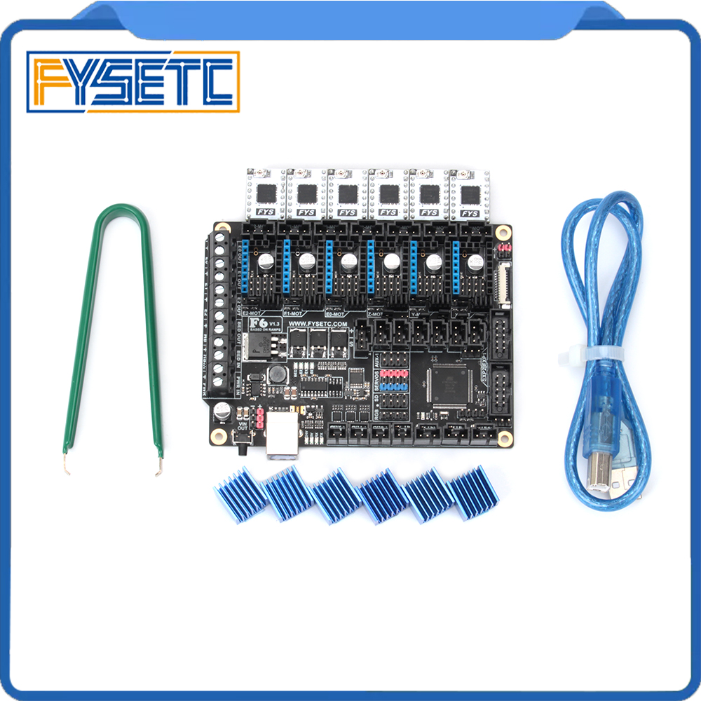 FYSETC TB67S109 Stepper Driver 6pcs + FYSETC F6 V1.3 Board ALL-in-one Electronics Solution Mainboard For 3D Printer CNC DevicesFYSETC TB67S109 Stepper Driver 6pcs + FYSETC F6 V1.3 Board ALL-in-one Electronics Solution Mainboard For 3D Printer CNC Devices