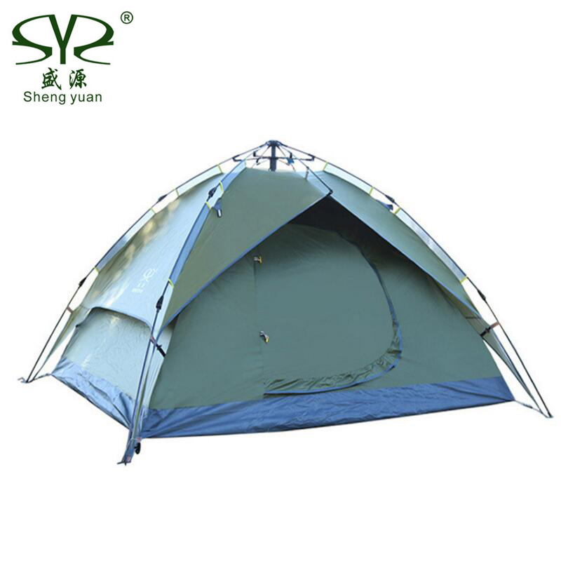 Outdoor Gazebo Tent 3 4 Person Multifunction Quick Automatic Opening Waterproof Camping Tents For Rest Family
