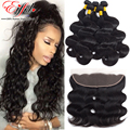 Annabelle Hair 8A 13X4 Ear To Ear Lace Frontal Closure With Bundles Brazilian Virgin Hair Body Wave With Lace Frontal Closure