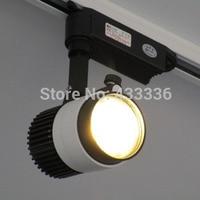 Wholesale LED lights 20W 20pcs COB Led Track Light Bridgelux Spot Wall Lamp AC85 265V Soptlight Tracking led light Free shipping