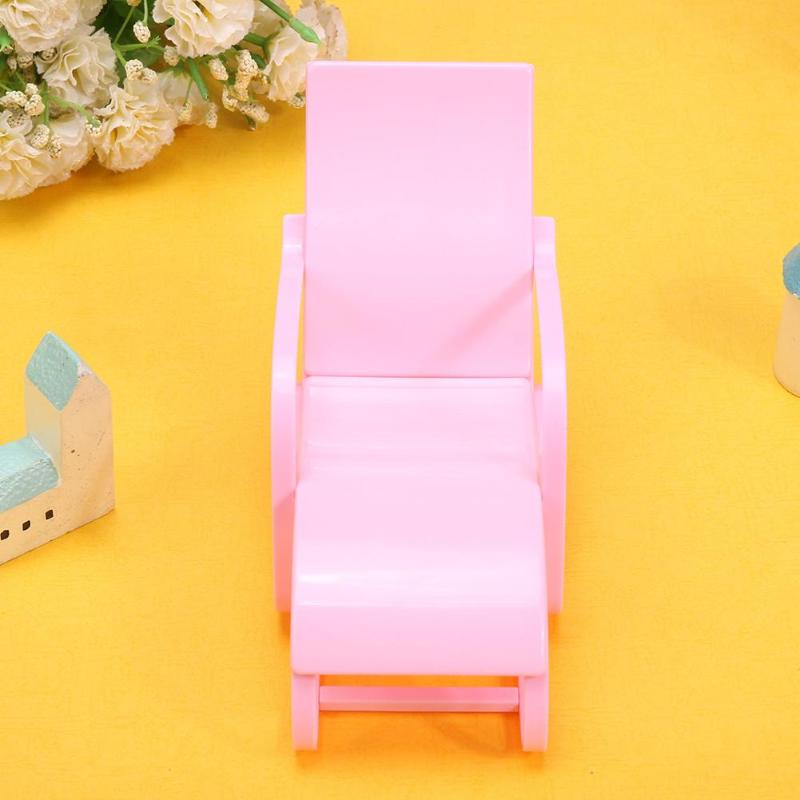 4 Colors Beach Lounge Chair for Barbie Doll Dream House Livingroom ...