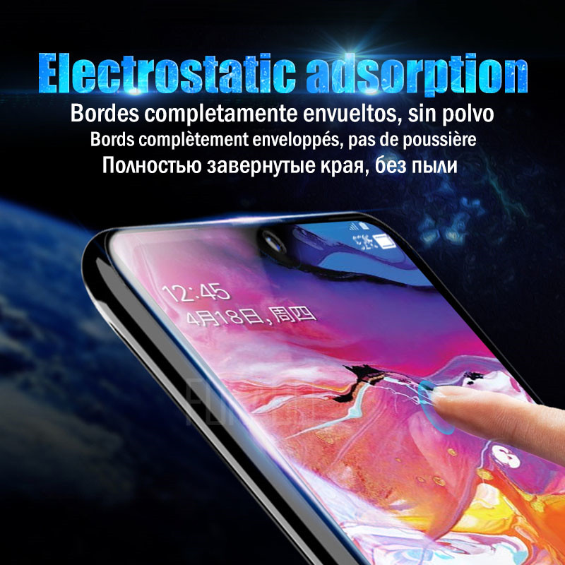 Image 3 - 10D Screen Protector For Samsung Galaxy S10 S9 S8 Plus S10e Note 9 8 Hydrogel For Samsung A7 2018 A5 2017 S7 EDGE soft Film-in Phone Screen Protectors from Cellphones & Telecommunications