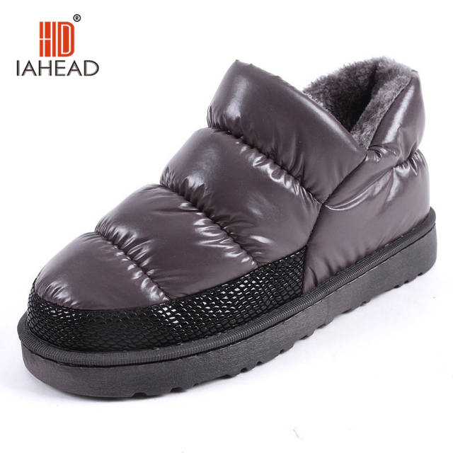 af7ab8a49bac Women winter snow boots warm flat and waterproof boots for winter Plus size  Winter shoes for