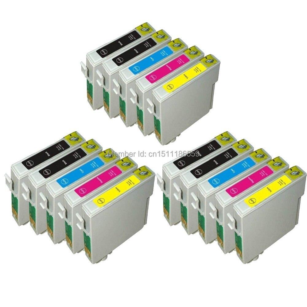 15 COMPATIBLE T0711 T0712 T0713 T0714 INK CARTRIDGES FOR ...