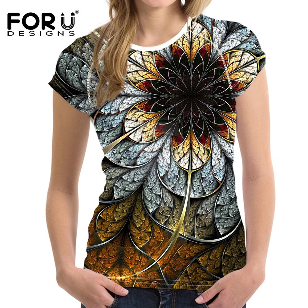 forudesigns t shirts women tops tees 3d floral t shirt femme t shirt women fashion tshirts