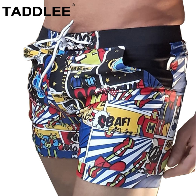 Taddlee Brand Men Swimwear Quick Dry Basic Traditional Swimsuits Long   Board   Boxer Trunks Big Plus Size XXL Beach   Shorts