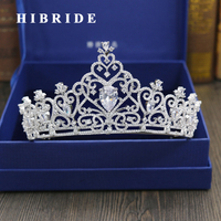 HIBRIDE Hot Peacock Bridal Tiara Crystal Wedding Hair Accessories Rhinestone Designs Quinceanera Tiaras Pageant Crowns C 27