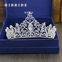 HIBRIDE Hot Peacock Bridal Tiara Crystal Wedding Hair Accessories Rhinestone Designs Quinceanera Tiaras Pageant Crowns C