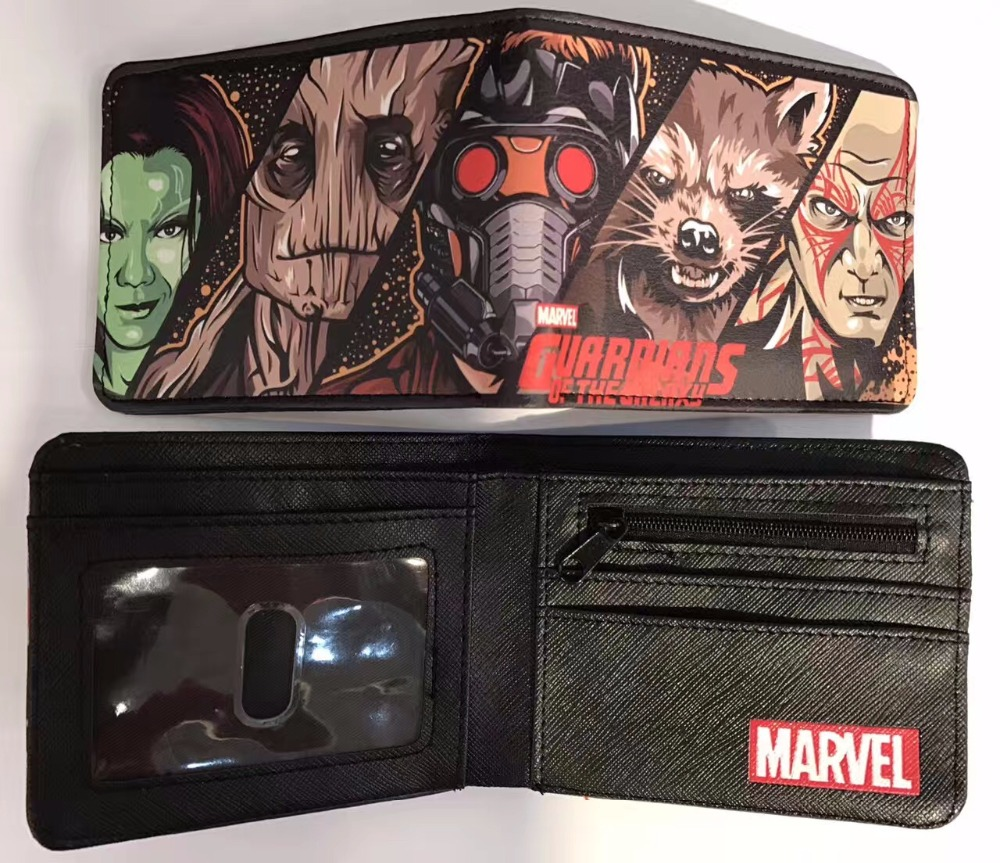 DC Comics Guardian Superhero cosplay wallet women men wallet card short coin bifold purse  Short purse dc comics bifold wallet dft 1822