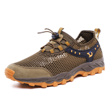 2019 New Unisex Breathable Hiking Shoes Outdoor Sneakers For Men Women Wading Hiking Shoes Sandals Trekking Mesh Water Sandals цена