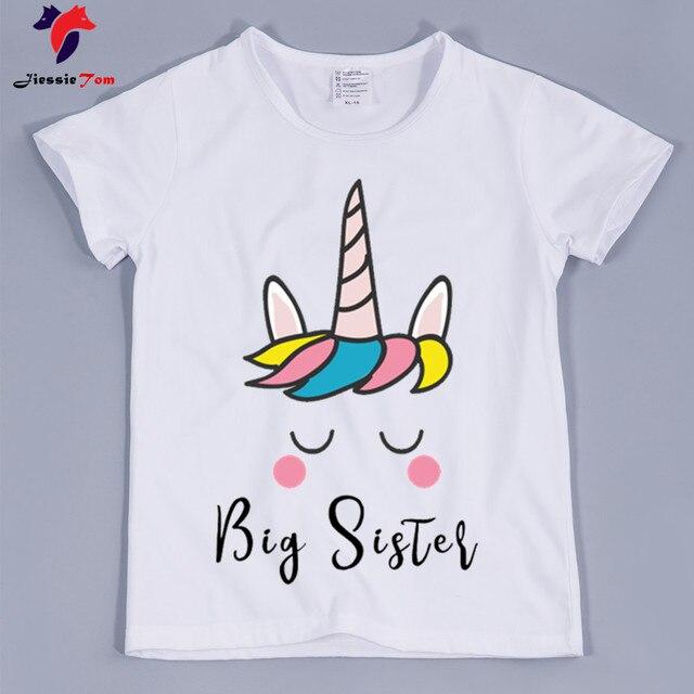 f6e3f7476 New Arrival,Kid's Big Sister Unicorn Tee Shirts 2018 Summer Short Sleeve  Unicorn Cartoon T-shirt For Boy and Girl,Baby Clothing