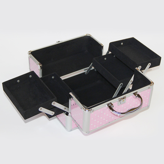 New Make Up Storage Box Cute Cosmetic Makeup Organizer Jewelry Box Women Organizer for Cosmetics Make Up Boxes Bag Suitcase 3