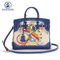 2017 Luxury Designer Graffiti Custom Real Leather Handbags Platinum Bag 30CM Gold Hardware Genuine Leather Women Messenger Bags