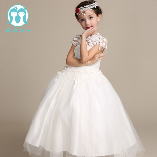 7fe1658a817 Very latest new model short sleeve girl first dress lace alibaba online  flower girl dresses with 100-160cm