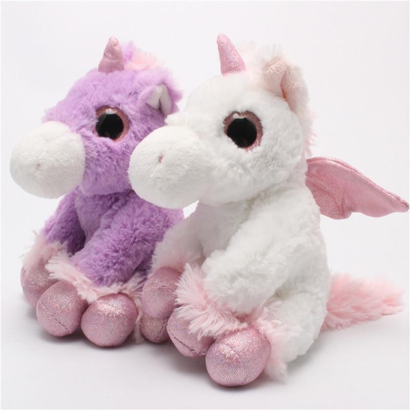 Rosa de peluche unicornio Juguetes felpa unicornio caballo Muñecas ...