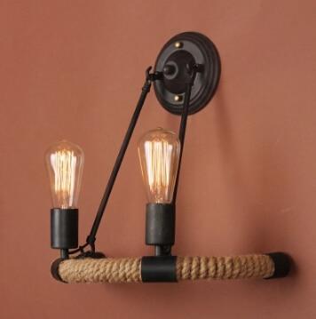 Free shipping Vintage loft Industrial American style cord wall lampFree shipping Vintage loft Industrial American style cord wall lamp