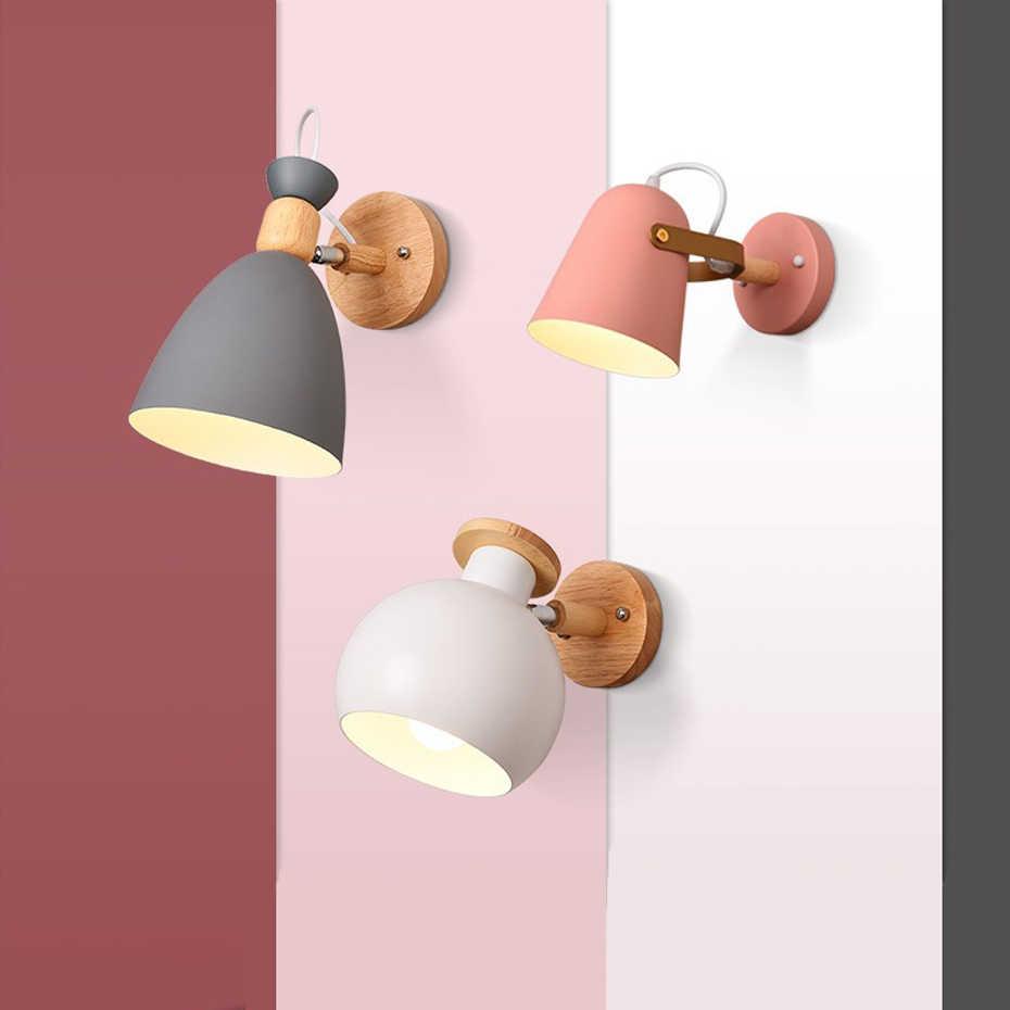 Nordic Личность Творческая мультфильм настенный светильник E27 Макарон фон настенный светильник для детей чтения прикроватная тумба для спальни