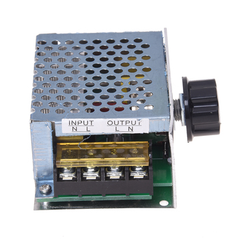 Top quality Voltage regulator Voltage Speed Controller SCR Dimmer + Shell AC 220V 4000W