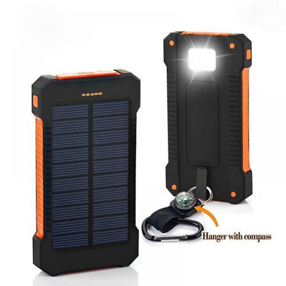 30000mah Solar Power Bank Mobile phone Charger for Xiaomi MI iPhone 8 External Battery Charging Pack PoverBank 2 USB Powerbank(China)