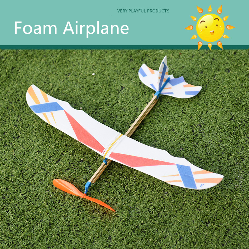 Rubber Bands Power Planes Hand Launch Throwing Foam Inertial Glider Aircraft Outdoor Toys For Child Kids Christmas Gifts