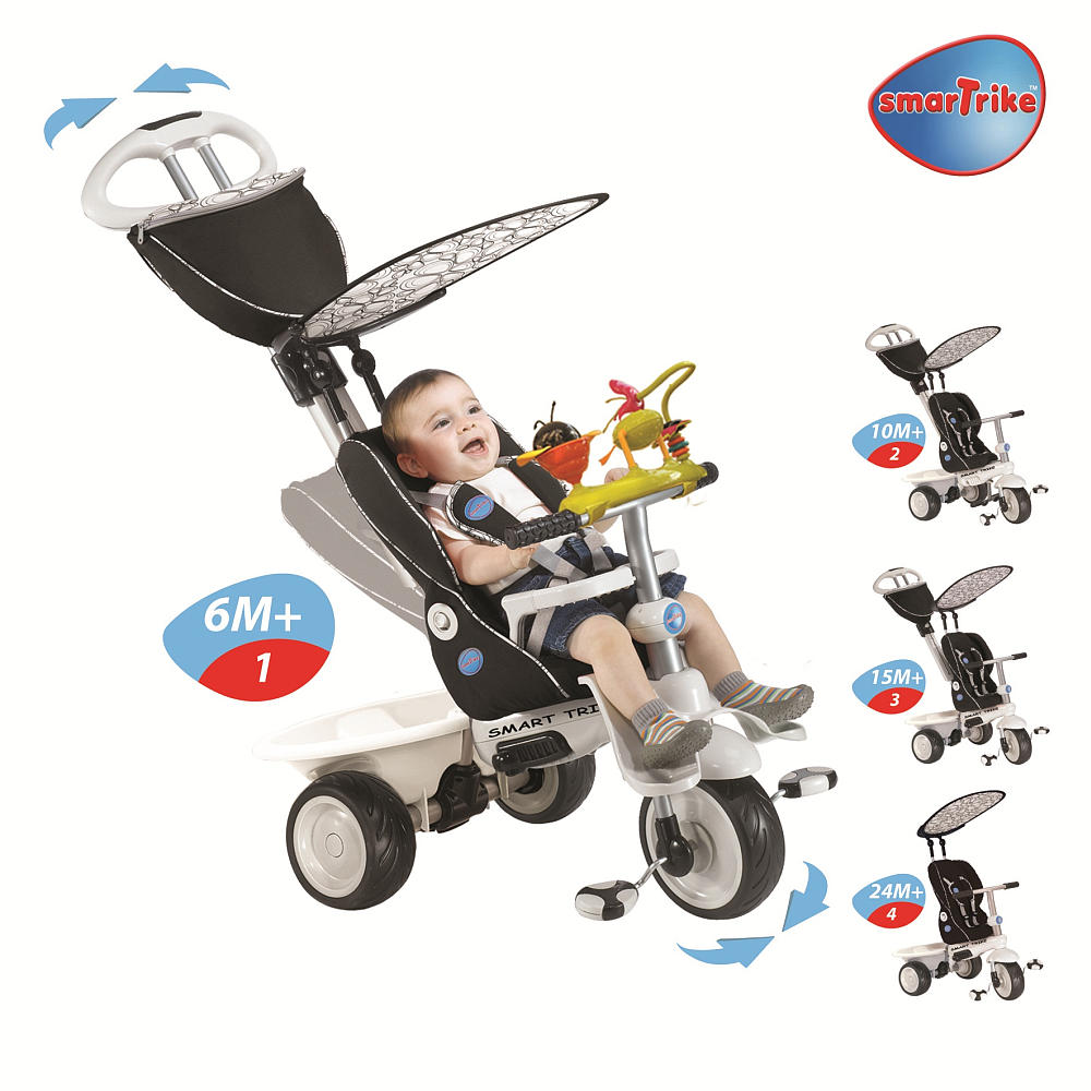 Smart Trike 4 In 1 Recliner Child Stroller Tricycle In