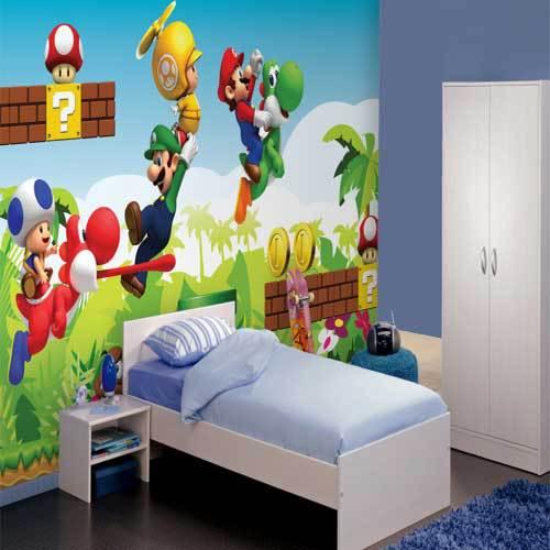 Mario Wallpaper Mural-in Tapeten aus Heimwerkerbedarf bei ...
