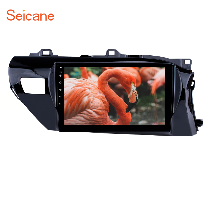 Seicane 10.1 inch Android 8.1 <font><b>Car</b></font> GPS Radio for <font><b>Toyota</b></font> Hilux Right Hand <font><b>Drive</b></font> 2016 2017 2018 Head unit Mirror Link 3G bluetooth image