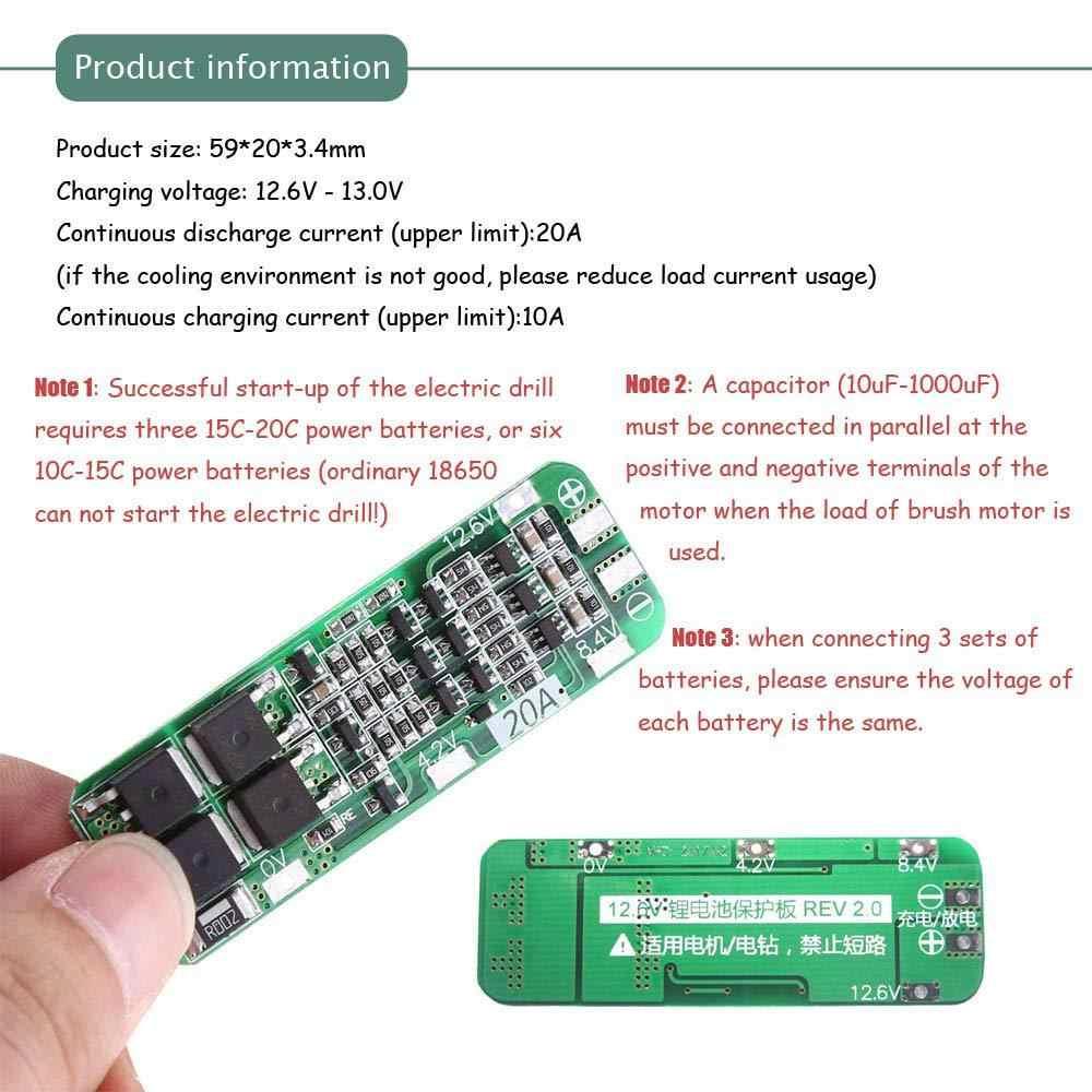 3 S 20A литий-ионная литиевая батарея 18650 зарядное устройство плата защиты BMS 12,6 V сотовый зарядный защитный модуль автоматическое восстановление diy комплект