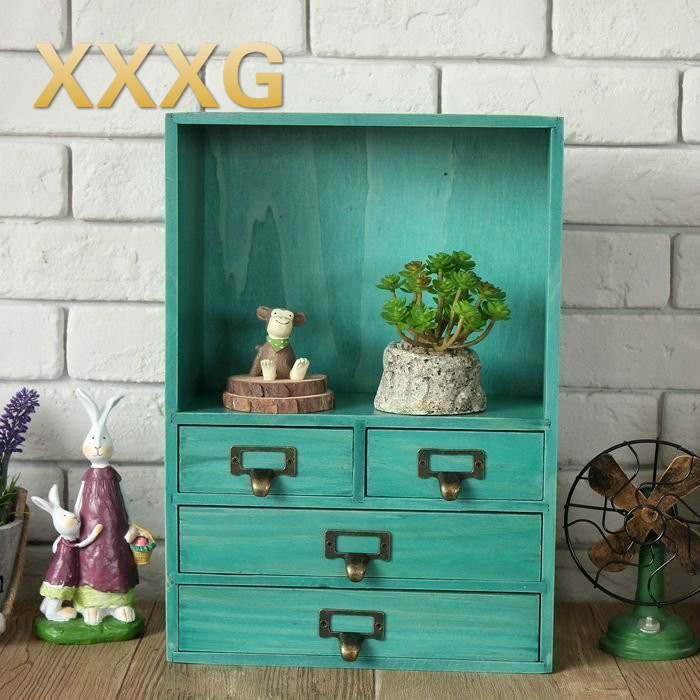 XXXG / /Receive drawer ark wooden desk surface perfume cosmetics receive a case small cabinet shelf bin on the second floor