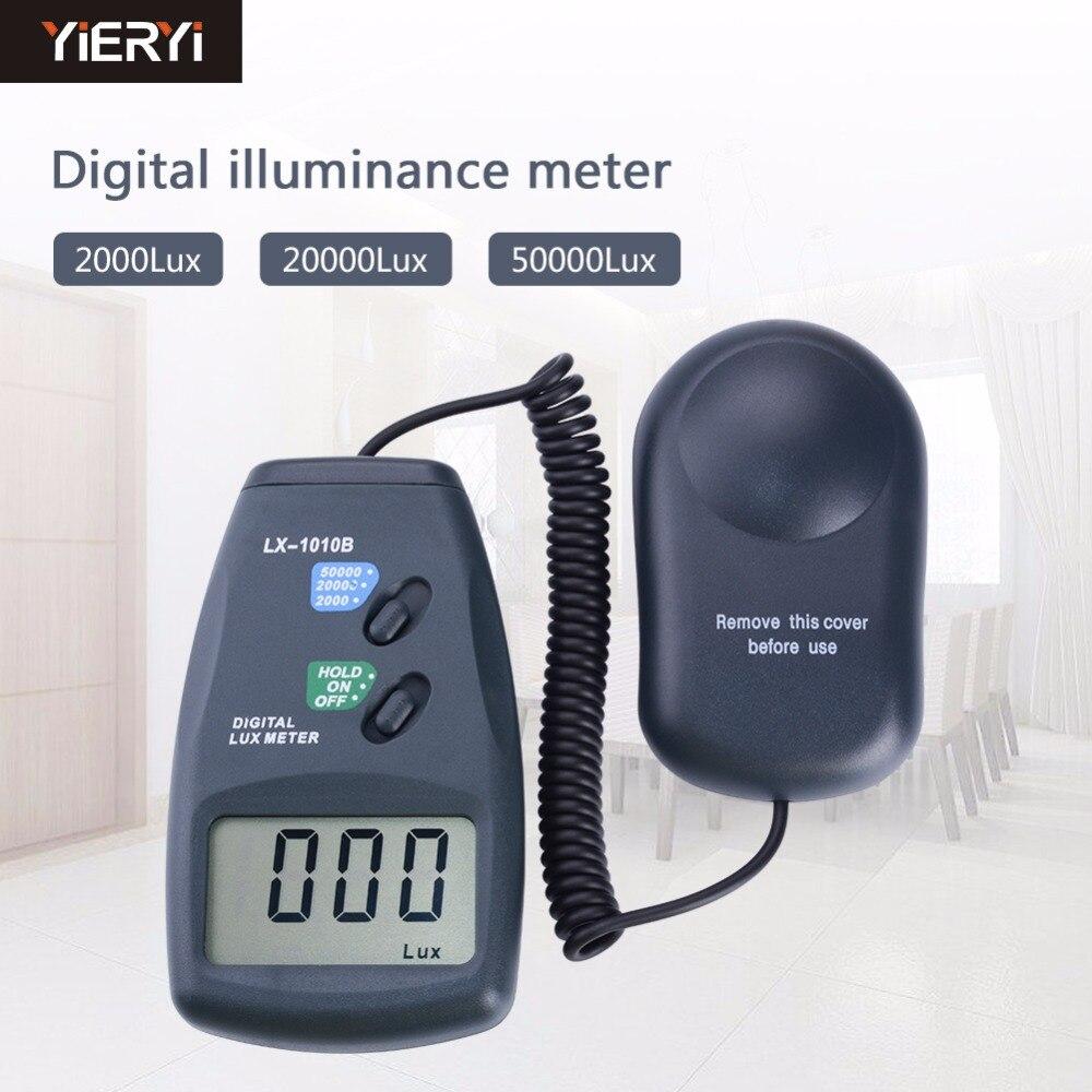 Compteur de lumière numérique 3 portée LX-1010B compteur numérique/compteur d'éclairement numérique 0-50000 Lux photomètre exposition télécommande