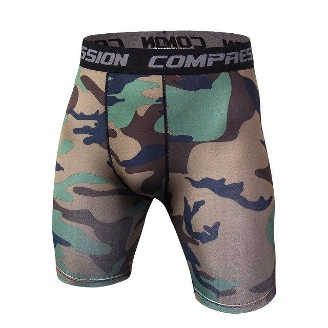 2cda29bf32d Summer 3D printing Camouflag Compression Tights Shorts Fitness Men  Bodybuilding Shorts Bermuda Brand Shorts Tights Fitness Short