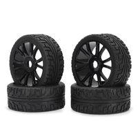 4PCS 17mm Hub Wheel Rim Tires HSP 1 8 Off Road RC Car Buggy Tyre Black