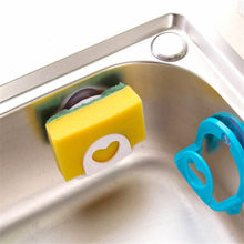 1Pc Bathroom Shelf Towel Soap Dish Holder Kitchen Sink Dish Sponge Storage Holder Rack Robe Hooks Sucker Kitchen Accessories(China)
