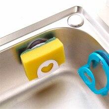 Rack Hooks Shelf-Towel Soap-Dish-Holder Kitchen-Accessories Sponge Bathroom 1pc Sucker