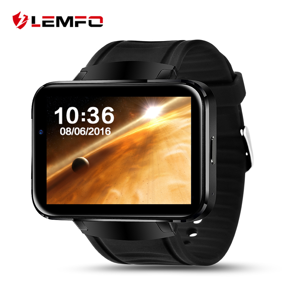 Original LEMFO LEM4 Android OS Smart Watch Phone Support GPS SIM Card MP3 Bluetooth WIFI Smartwatch for apple ios android os luxury v360 smart watch update dm360 mtk2502a bluetooth smartwatch support dutch hebrew for apple iphone huawei android phone