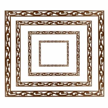VZLX Wood Carved Applique Frame Onlay Furniture Decoration Accessories Unpainted DIY Vintage Home Decor Craft Wooden Letters