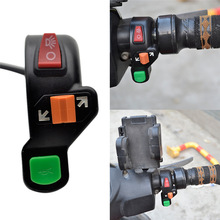 """Универсальный 3 в 1 мотоцикл велосипед сигналы вкл/выкл светильник ATV 7/"""" переключатель рога"""