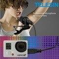 Telesin hands free clip-on microfone omnidirecional usb mini estéreo sem qualquer adaptador para gopro hero4/3 +/3 acessórios