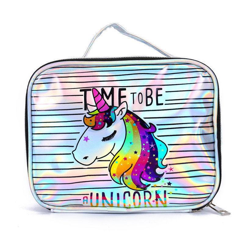 HJKL Bag Handbag Storage-Bag Makeup Unicorn Laser Kosmetyczka Student Cartoon Summer