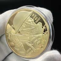 Brave Soldier-moneda chapada en oro coleccionable, regalo de colección de arte, guerra física, Metal conmemorativo, imitación antigua