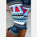 10 pçs/lote Asteca Leggings Para Mulheres Stretchy Malha Floco De Neve Tornozelo Comprimento Leggins Tribal Impresso Casual Skinny Slim Legging
