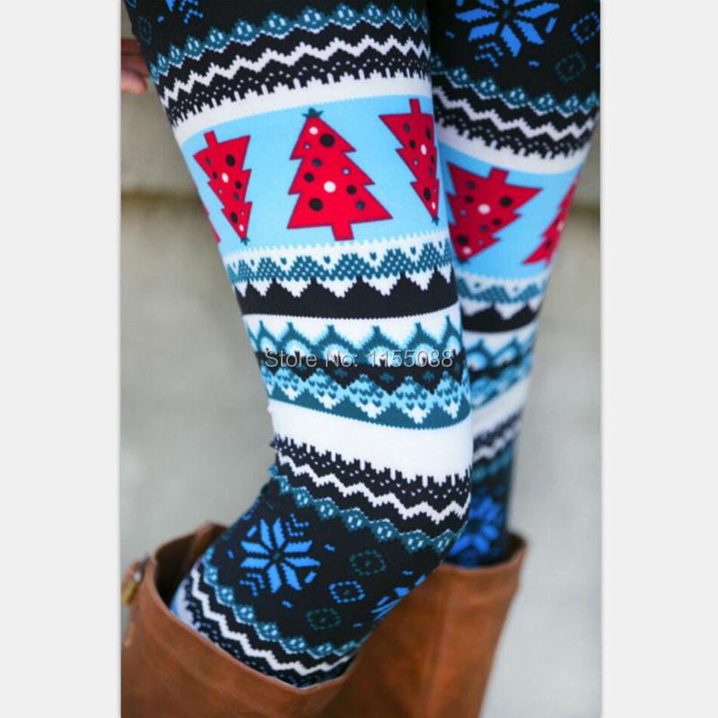 10pcs/lot Aztec Leggings For Women Stretchy Knit Snowflake Leggins Ankle Length Tribal Printed Casual Skinny Slim Legging