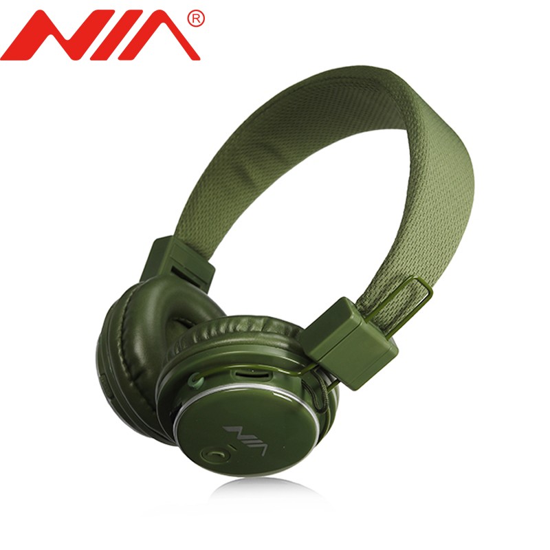 Original NIA Q8 Stereo Bluetooth Headphone Wirelsee Stereo Foldable Sport Headsets Support APP with Mic Support TF Card FM Radio economic set original nia 8809s 8 gb micro sd card a set wireless headphone sport for tv with fm