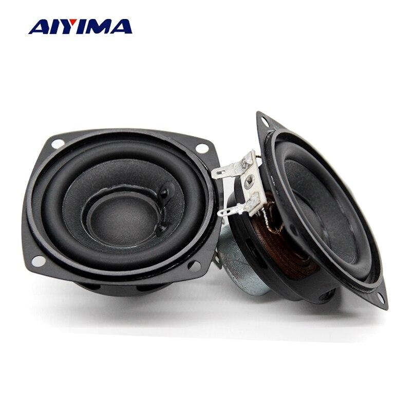 Aiyima 2PC 2.5 Inch Audio Speakers 4Ohm 10W 66MM Full Range Speaker Bass Multimedia Neodymium Magnet Loudspeaker