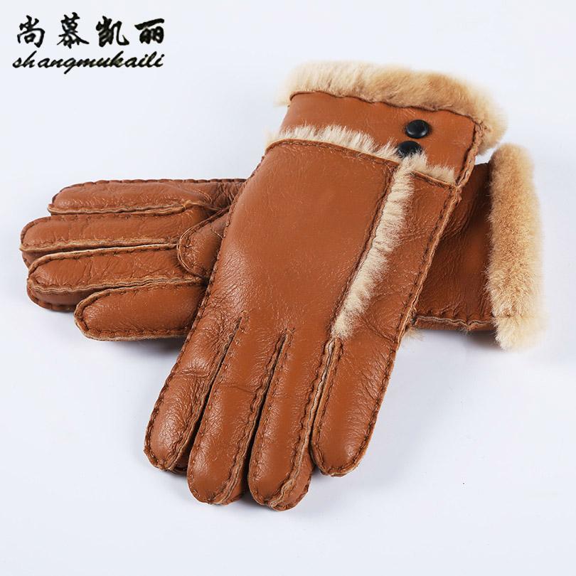 Leather gloves for womens