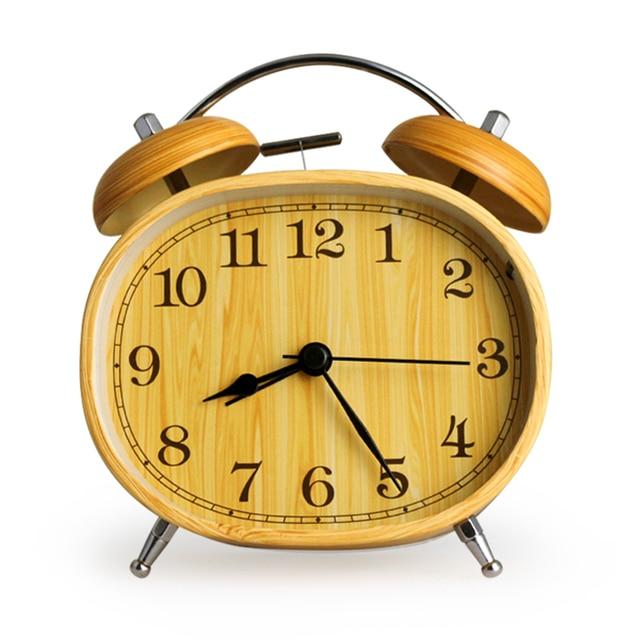 Nice Classical Double Bell Alarm Clock Metal Quartz Clock Desktop Digital Alarm Clock  Bedroom Office Bedside Silent