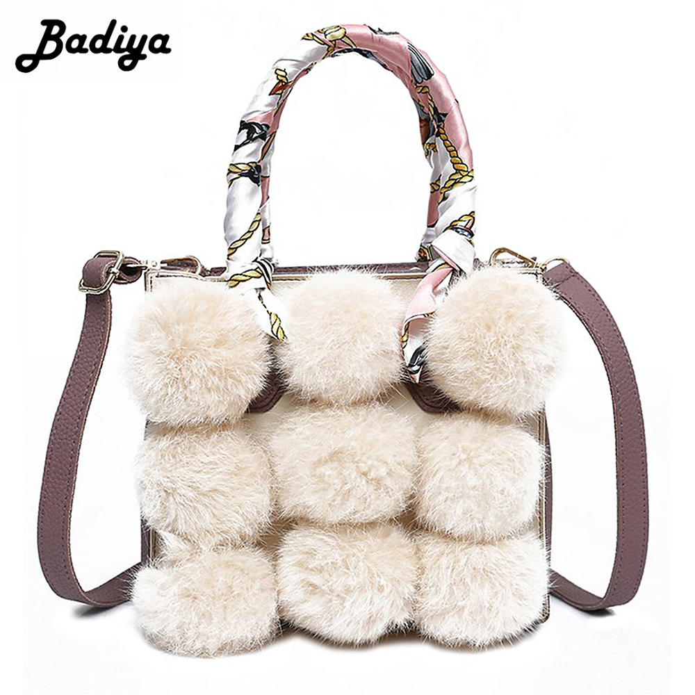 Fashion Women Faux Fur Scarves Handbag Mini Luxury Small Flap Bag Elegant Ladies Shoulder Bags Female Bolsa