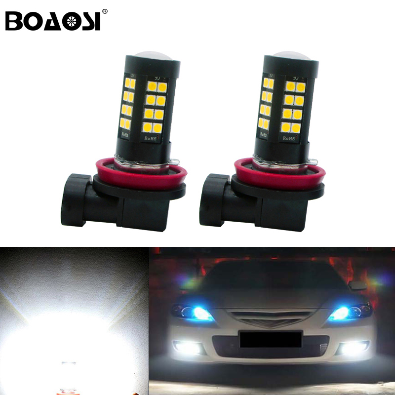 BOAOSI 2x High Power 1200LM H11 3030SMD LED Fog Light Bulb Lamp For mazda 3 5 6 xc-5 cx-7 axela atenza