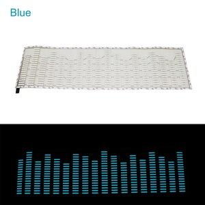 Image 2 - Niscarda Car Blue LED Music Rhythm Flash Light Sound Activated Sensor Equalizer Rear Windshield Sticker Styling Neon Lamp Kit