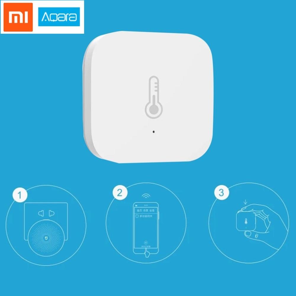 Aqara Intelligent Temperature Humidity Sensor Wifi Wireless Real-time Alarm Intelligent Detector Via APP Control Smart Home intelligent wireless real time surveillance system